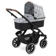 ABC Design 'Salsa 4 Air' Kombikinderwagen 3 in 1 Set S smaragd inkl. Babyschale soho grey und Adapter