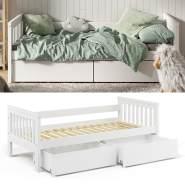 VitaliSpa 'Luna' Kinderbett, weiß, 90x200cm, inkl. Bettschubladen