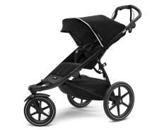 Thule 'Urban Glide 2'Kombikinderwagen 3 in 1 Black on Black inkl. Sportsitz, Babywanne und Babyschale Soho Grey