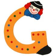 Clown-Buchstabe Holz G