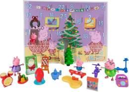 Jazwares Adventskalender Peppa Wutz, 24 Türchen mit Spielfiguren und Zubehör, Weihnachtskalender