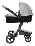 Mima Xari Design Kinderwagen Kollektion 2021 Schwarz (Schwarze Räder) Argento
