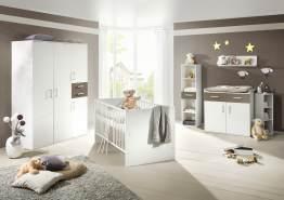 Storado 'Sienna' 8-tlg. Babyzimmer-Set weiß matt/lava