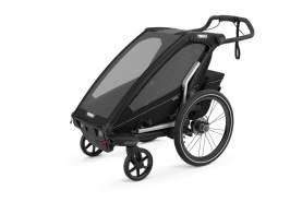 Thule 'Chariot' Fahrradanhänger Set + Thule Babysitz Sport 1 Midnight Black