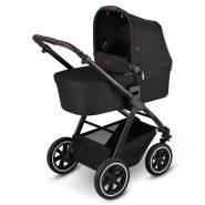 ABC Design 'Samba' Kombikinderwagen 2 in 1 2021 Midnight inkl. faltbarer Babywanne, Sportsitz und integriertem Sonnensegel
