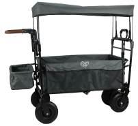 Elternstolz Bollerwagen Grau, faltbar mit Luftreifen
