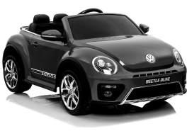 Kidcars Kinder Elektro Auto VW Volkswagen Beetle 2x 25W 12V 4. 5Ah Schwarz