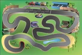 Spielteppich 'Racetrack' 100 x 150 cm