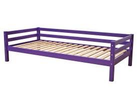 Hoppekids 'BASIC My Color' Einzelbett 90×200 cm, Lila, inkl. Rollrost, mit Rückenleiste, nachhaltig