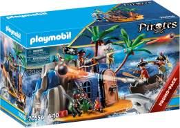 PLAYMOBIL Pirates 70556 'Pirateninsel mit Schatzversteck', 120 Teile, ab 4 Jahren