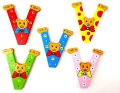 Brink Holzspielzeug Buchstabe: 'V' - 1 Stück, zufällige Auswahl, keine Vorauswahl möglich