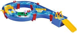AquaPlay 'Amphie-Set' Wasserbahn, 90 x 51 x 11 cm, inkl. Wasserfahrzeug mit 2 Spielfiguren, Paddelrad, Auffahrt und kleiner Fähre