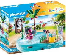 Playmobil Family Fun 70610 'Spaßbecken mit Wasserspritze', 65 Teile, ab 4 Jahren