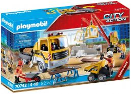 Playmobil City Action 70742 'Baustelle mit Kipplaster', 82 Teile, ab 4 Jahren