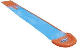 Bestway H2OGO! 'Single' Wasserrutsche, 488 x 82 cm, integrierter Wassersprinkler, einfacher Anschluss an Gartenschlauch