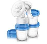 Philips Avent 'Naturnah' Handmilchpumpe weiß/blau inkl. drei Becher