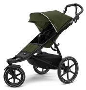 Thule 'Urban Glide 2' Kinderwagen Set 3 in 1 Cypress Green inkl. Babywanne, Babyschale Deep Black und Adapter