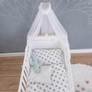 Puckdaddy 'Freya' Bett-Set, weiß, Sterne, Pünktchen, 135x100 cm