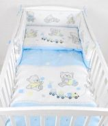 Babylux 'Bär Cookie Blau' Kinderbettwäsche 40x60/100x135 cm