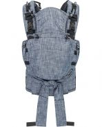 Hoppediz 'Nabaca' Babytrage Basic-Set Denim, 2 Tragepositionen