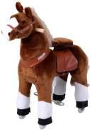 Ponycycle 'Amadeus' Reittier, Medium, U-Serie, Pferd auf Rollen, weicher Plüschkörper, fördert Bewegung und Koordination