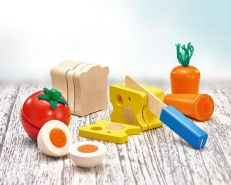 Selecta 62020 Picknick, Klett und Schneidespielzeug, 13 Teile