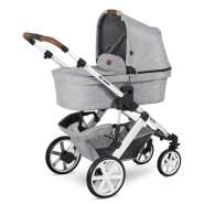 ABC Design 'Salsa 4' Kombikinderwagen 4plusin1 Set M graphite grey inkl. Babyschale asphalt, Wickeltasche, Fußsack und Adapter