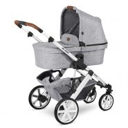 ABC Design 'Salsa 4' Kombikinderwagen 3 in 1 Set S graphite grey inkl. Babyschale nature, Adapter und Regenschutz