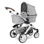 ABC Design 'Salsa 4' Kombikinderwagen 3 in 1 Set S graphite grey inkl. Babyschale rose gold, Adapter und Regenschutz