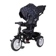 Lorelli Tricycle Neo 4 in 1 Luftreifen, Schiebestange, Sitz drehbar, verstellbar schwarz Krone