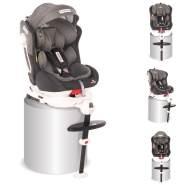 Lorelli Kindersitz Pegasus Gruppe 0+/1/2/3 (0-36 kg) Isofix verstellbar, Kissen hellgrau