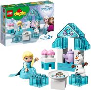 LEGO DUPLO 10920 Disney Frozen 'Teeparty mit Elsa und Olaf', 17 Teile, ab 2 Jahren, schönes Steine-Set zum spielerischen Lernen