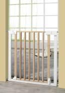 Geuther 'Vario Safe' Türschutzgitter, für Türbreiten 74,5 - 82,5 cm, Klemmbefestigung, Metall/Holz, Weiß/Natur