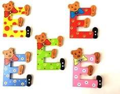 Brink Holzspielzeug Buchstabe: 'E' - 1 Stück, zufällige Auswahl, keine Vorauswahl möglich