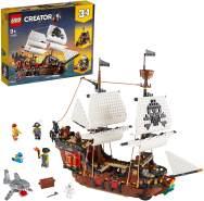 LEGO Creator 3-in1 31109 'Piratenschiff', 1264 Teile, ab 9 Jahren, drei Modelle in einem Set