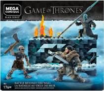 Mega Construx GKG96 - Game of Thrones Weiße Wanderer Schlacht, Bauset mit 176 Bausteine mit Actionfiguren inkl. Jon Schnee und Nachtkönig
