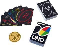 UNO Premium - 50 Jahre UNO Jubiläumsausgabe mit Münze