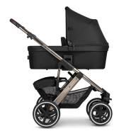 ABC Design 'Salsa 4 Air' Kombikinderwagen 3 in 1 Dolphin inkl. Sportsitz, Babywanne, Cybex Aton 5 Babyschale Soho Grey