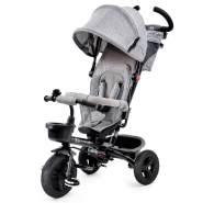 Kinderkraft 'Aveo' Dreirad Grau, mit pannensicheren Reifen, inkl. Becherhalter, Korb, Klingel und Tasche