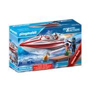 Playmobil Sports & Action 70744 'Speedboot mit Unterwassermotor', 24 Teile, ab 4 Jahren