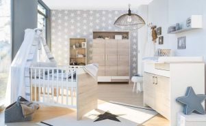 Schardt 'Clou Oak' 3-tlg. Babyzimmer-Set Schrank 3-türig