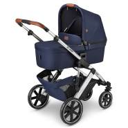 ABC Design 'Salsa 4' Kombikinderwagen 3 in 1 Set S navy inkl. Babyschale graphite grey, Regenschutz und Adapter