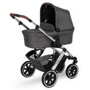 ABC Design 'Salsa 4 Air' Kombikinderwagen 3in1 Set S asphalt inkl. Babyschale deep black und Adapter