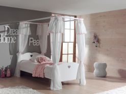 Vipack 'Amori' Himmelbett inkl. Vorhang 90x200