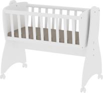 Lorelli 'First Dreams' Babywiege, weiß, 4 Räder mit Bremsfunktion, umbaubar