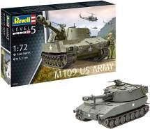 Revell 03265 14 Modellbausatz M109 US Army im Maßstab 1:72, Level 5