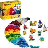LEGO Classic 11013 'Kreativ-Bauset mit durchsichtigen Steinen', 500 Teile, ab 4 Jahren, Spielset mit acht inspirierenden Bauideen