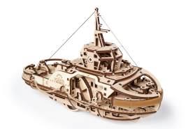 UGEARS 'Schlepper' Holzbausatz, 3D Puzzle Kit, Modell-Schiff mit 169 Teilen, Denkaufgabe für Kinder und Erwachsene