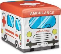 Relaxdays 'Krankenwagen' Faltbare Spielzeugkiste