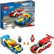 LEGO City 60256 'Rennwagen-Duell', 190 Teile, ab 5 Jahren, inkl. 2 Rennfahrer-Minifiguren